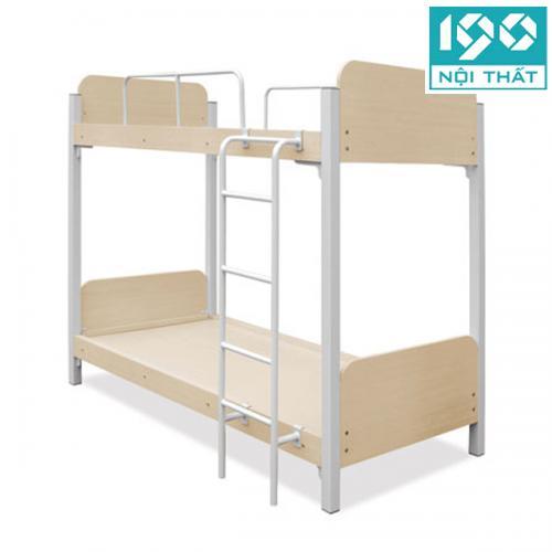 Giường tầng gỗ khung sắt JS-2T-G